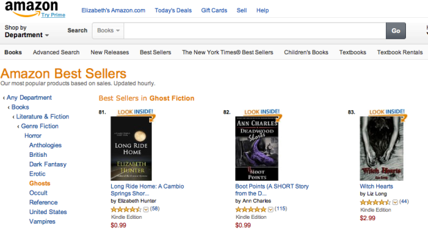 Witch Hearts at #83 in Kindle Bestsellers Ghost Fiction