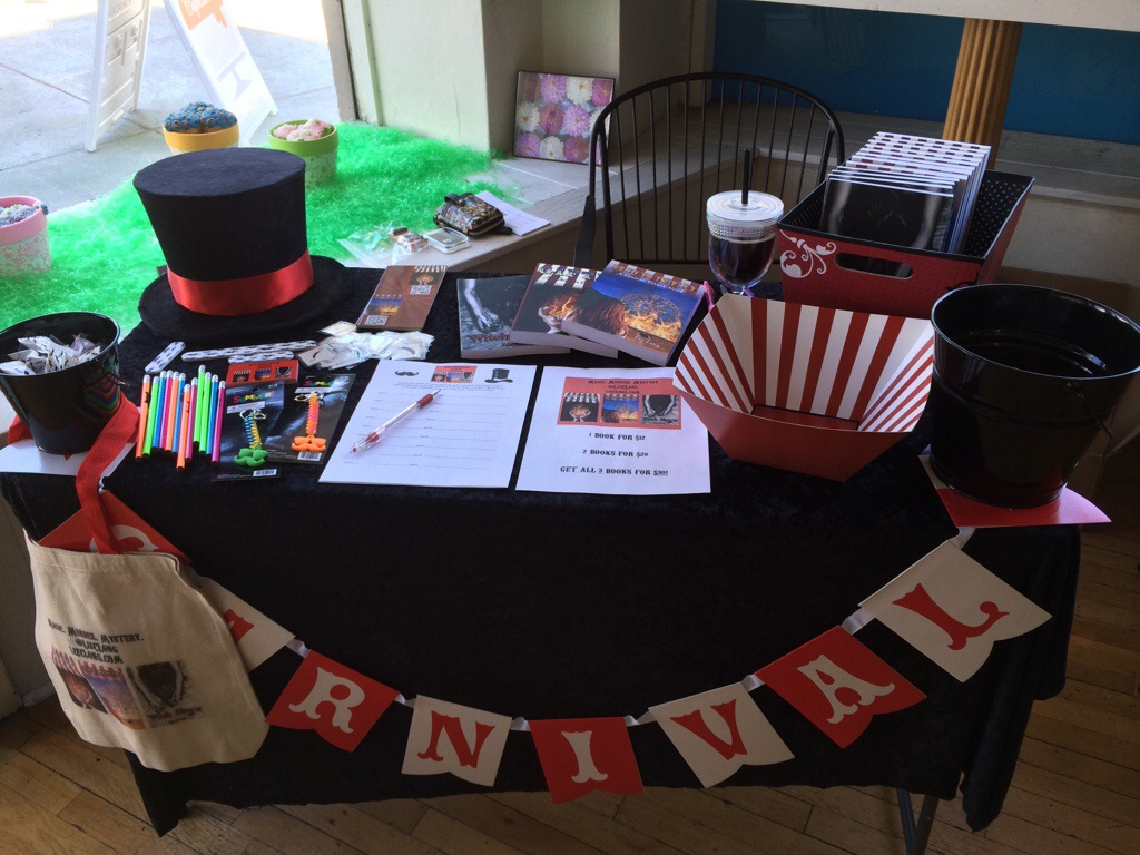 Liz Long Book Signing Table